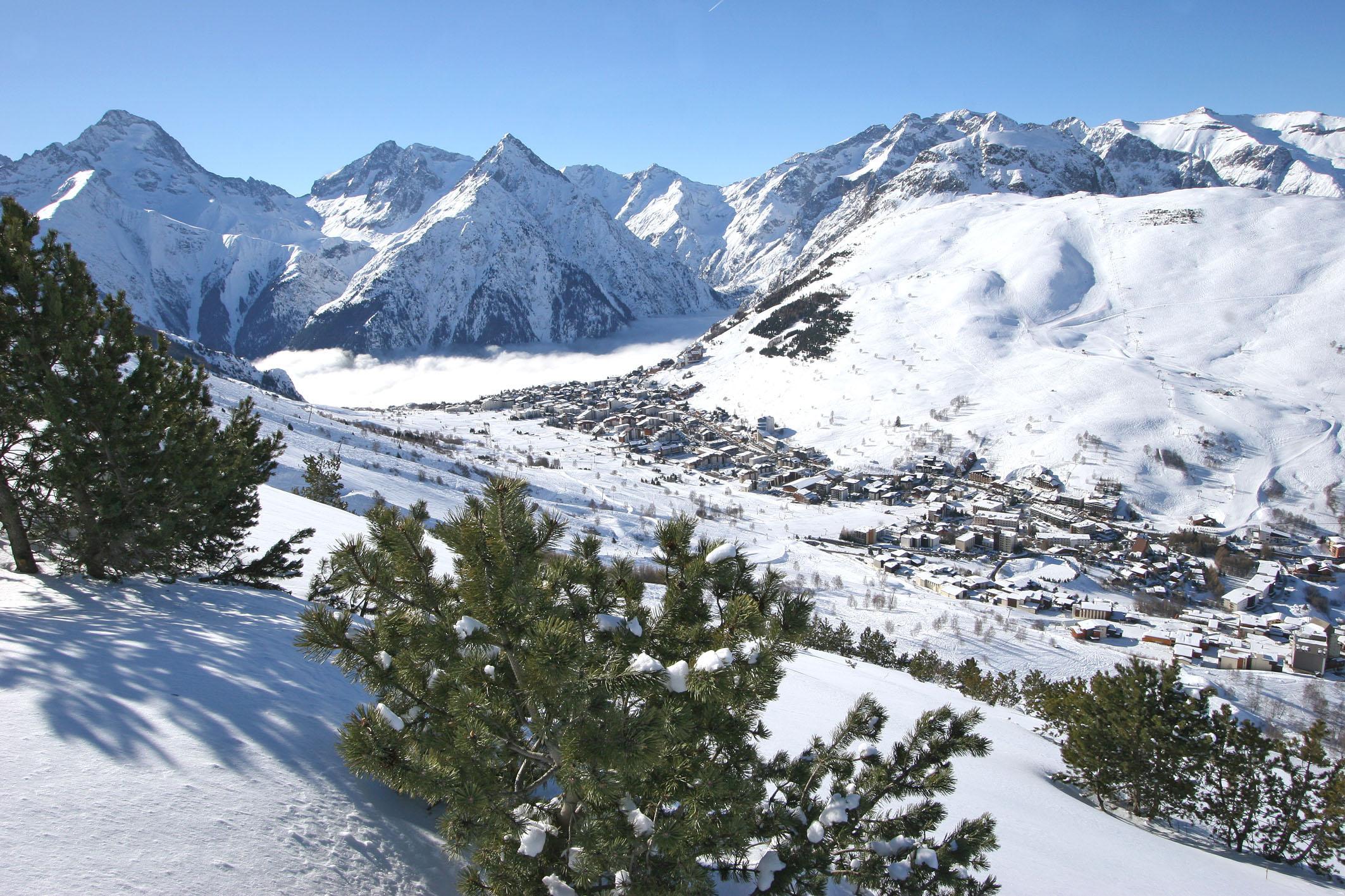 Nouvelle piste bleue de retour à la statin des 2 Alpes